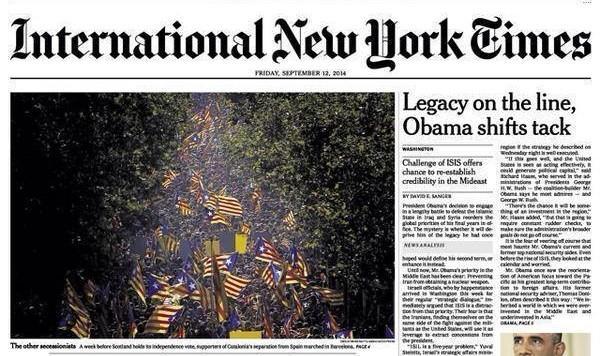 Así han visto la Diada desde el New York Times