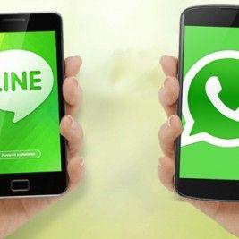 LINE y WhatsApp, aplicaciones móviles de mensajería en nuestras vidas