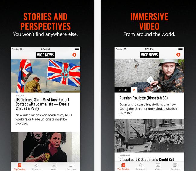 Vice News app, para consultar los documentales de este nuevo medio estadounidense