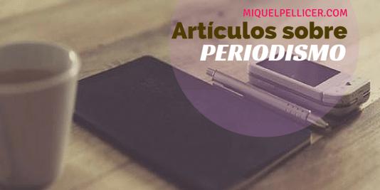Artículos sobre periodismo