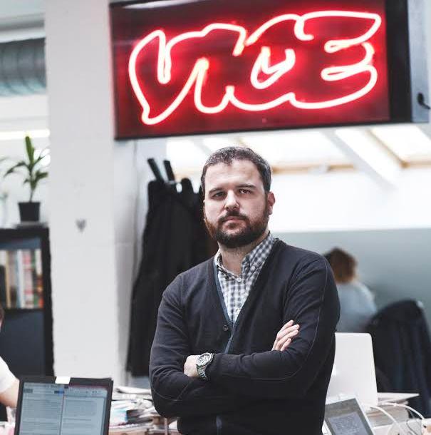 Medir Plandolit en la redacción de Vice News en Barcelona