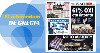 Portadas sobre el referendum griego