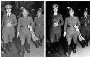 De todos es conocido el retoque que se aprecia en los ojos de Francisco Franco.