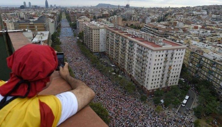 Via Lliure por las calles de Barcelona
