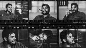Hoja de contactos de la entrevista a Ernesto Che Guevara en Cuba en 1963. Foto: Rene Burri