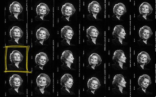 Margaret Thatcher, Blackpool, Inglaterra, 1981. Foto: Peter Marlow/Magnum Photos