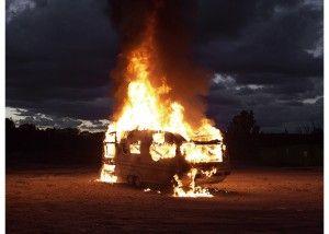 Le feu. Foto: Mathieu Pernot.