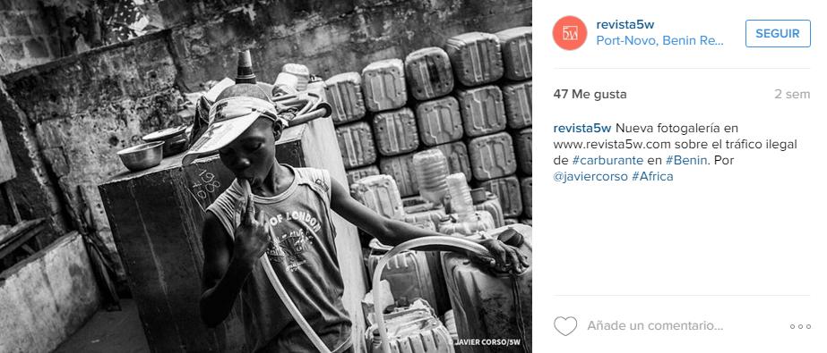 Instagram @revista5W. Fotografía @javiercorso