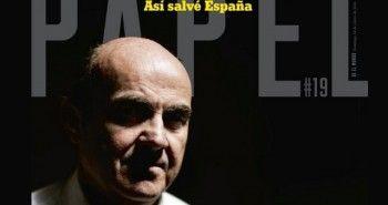 De Guindos, en la portada de PAPEL, el suplemento de El Mundo