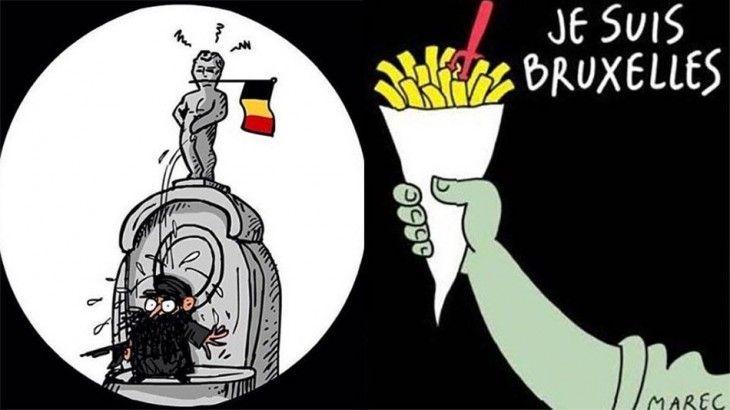 Maneken Pis contra el terrorismo