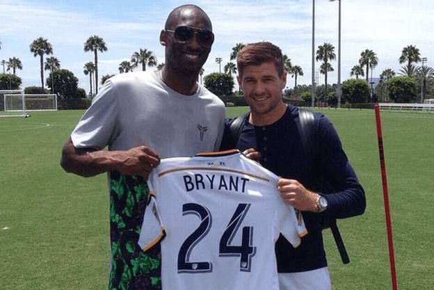 Kobe Bryant y Steven Gerrard