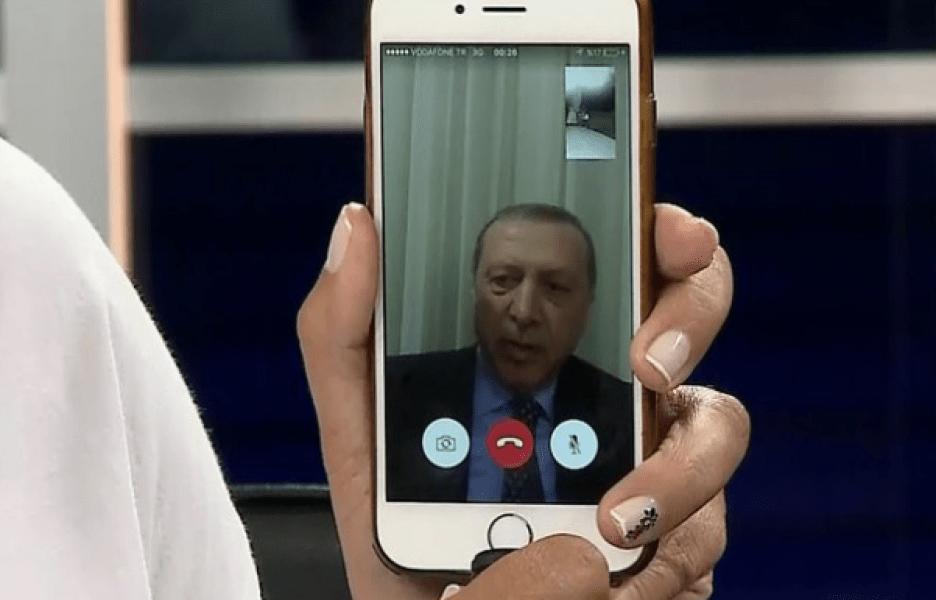 Erdogan, en directo por Facetime