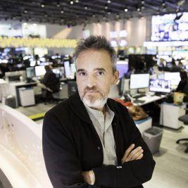 Borja Echevarría en la redacción de Univisión Noticias