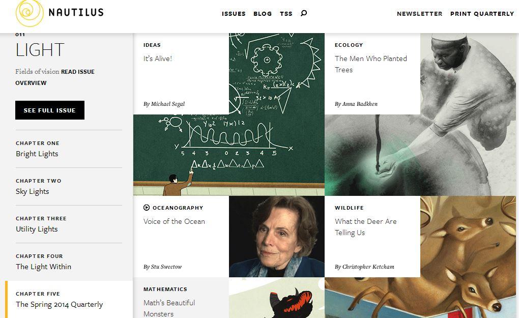 Las páginas web de la revista Nautilus y del periódico The New York Times han sido elegidas como las mejores.