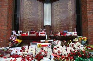 Homenaje a las víctimas de Hillsborough. FOTO: LIVERPOOL FC