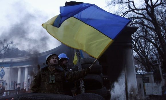 Las Nueves Banderas De Ucrania Crimea Y Donestk