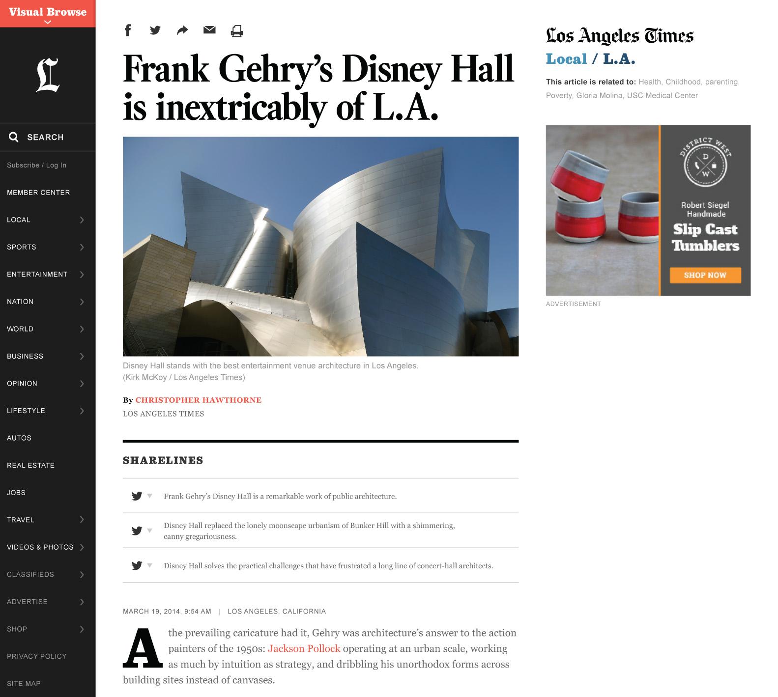 Así es la nueva web de Los Angeles Times