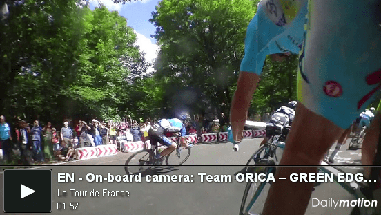 Camera on board tour de france 2014