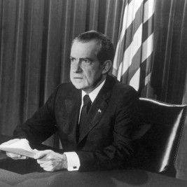 Richard Nixon. Photo by Hulton Archive/Getty Images