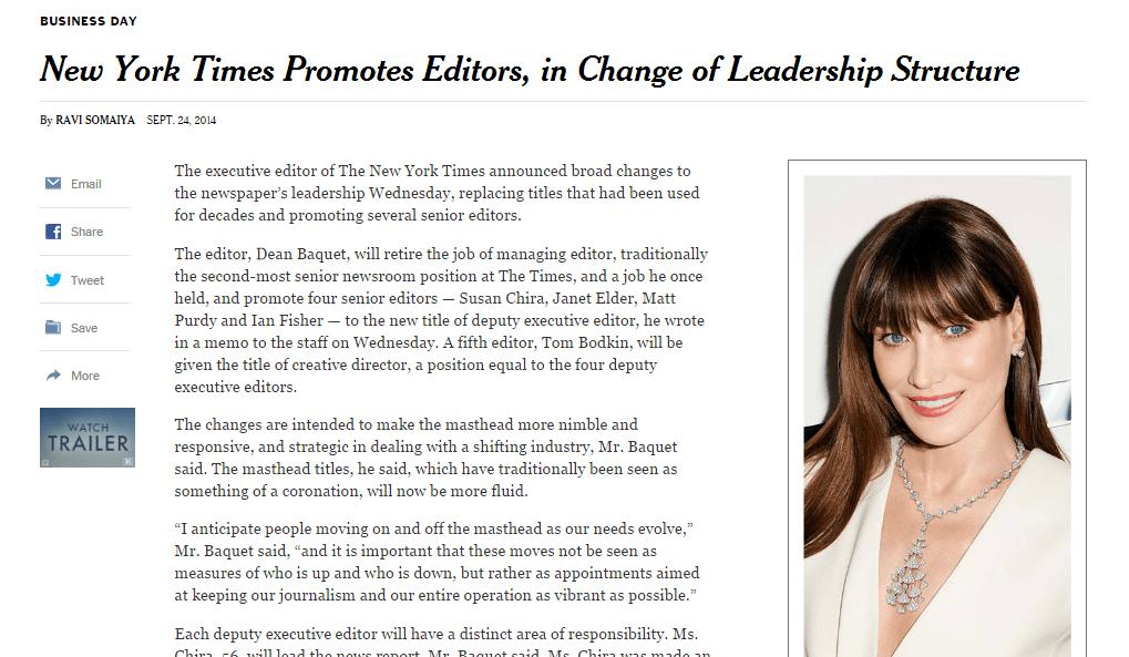 Los cambios en la redacción del New York Times