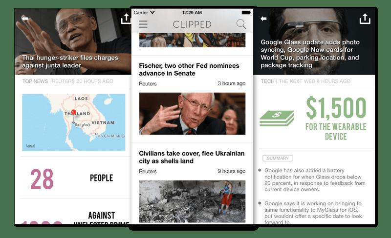 Clipped, fundamental para consultar noticias en poco tiempo