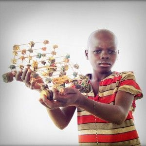 Central African Republic (CAR) refugee children pose with their oft-improvised toys