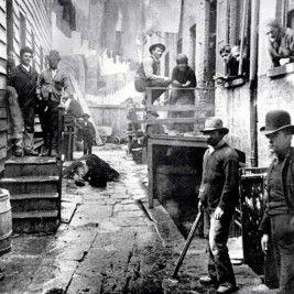 Bandit's Roost, 59 1/2 Mulberry Street. Imagen que inspiró escenas de la película de Martin Scorsese, 'Gangs of New York'