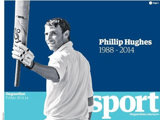 La muerte de Phil Hugues contada por The Guardian Sports