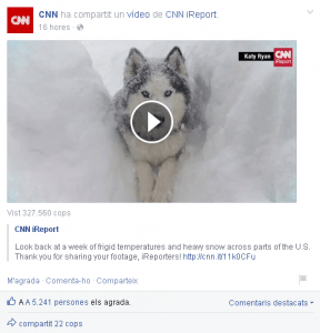 CNN vídeos muro Facebook