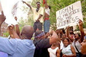 Manifestaciones en Cincinatti en 2001.