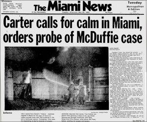 Portada del Miami News reflejando los saqueos e incendios.