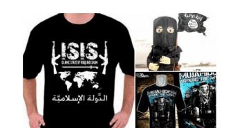 Selección de algunos de los productos de merchandising de ISIS a la venta en Facebook. Fuente: Daily Mail