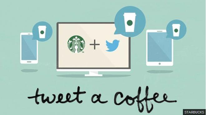 Sistema de premios a través de Twitter, gracias a Starbucks