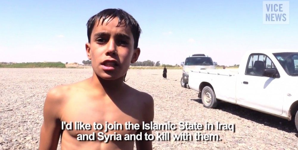 Frame del reportaje de Vice News sobre Estado Islámico