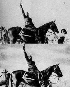 'Il Duce' Benito Musolini debía aparecer solo.