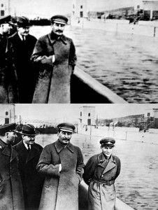 Y para terminar, el maestro de la modificación, supresión y alteración de imágenes a su propia conveniencia: Stalin. Eliminó de las fotos a ciudadanos que también eliminó de la vida.