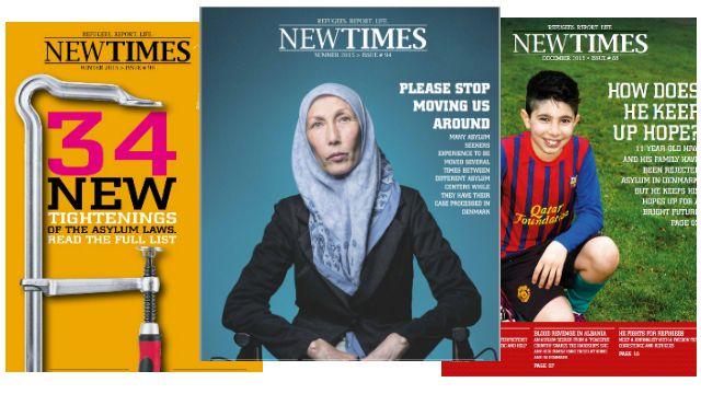 Portadas de New Times, revista danesa realizada por refugiados