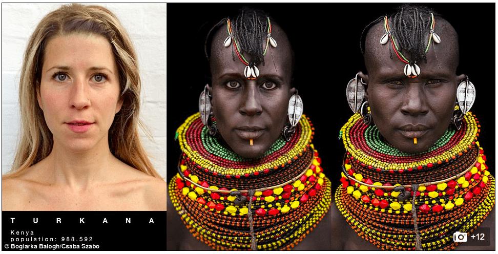 Boglarka Balogh y las mujeres africanas