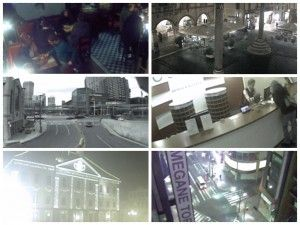 Fotomontaje con las imágenes de las cámaras de seguridad del proyecto you-are-watching.me
