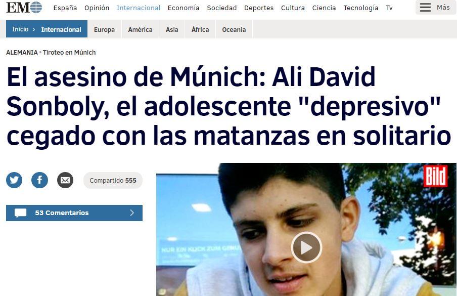 """Ali David Sonboly, el adolescente """"depresivo"""""""