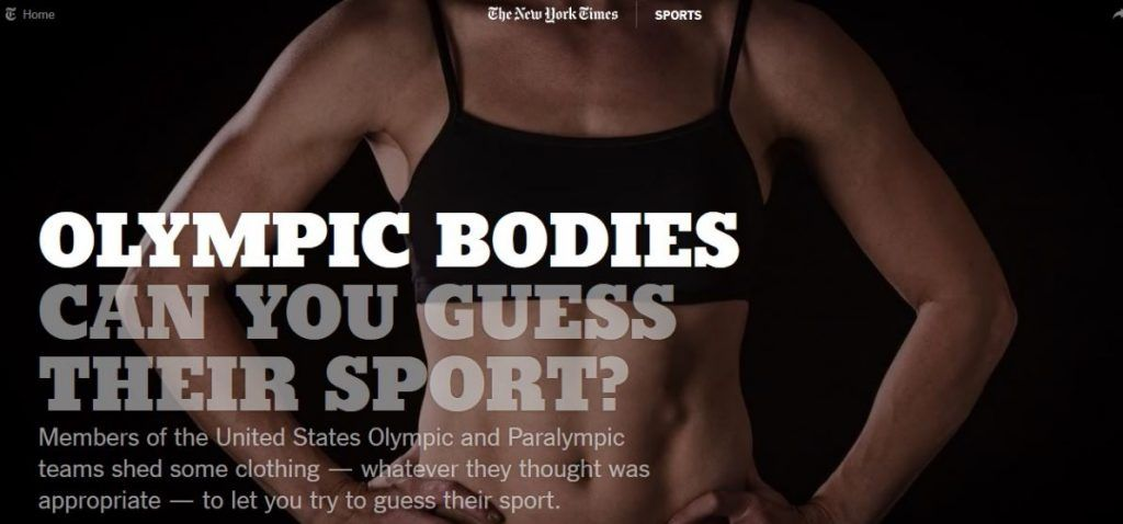 OLYMPIC BODIES CAN YOU GUESS THEIR SPORT?