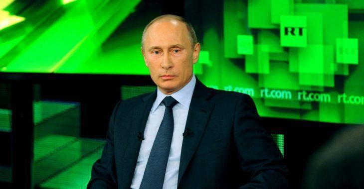 Vladimir Putin en una entrevista en Russia Today
