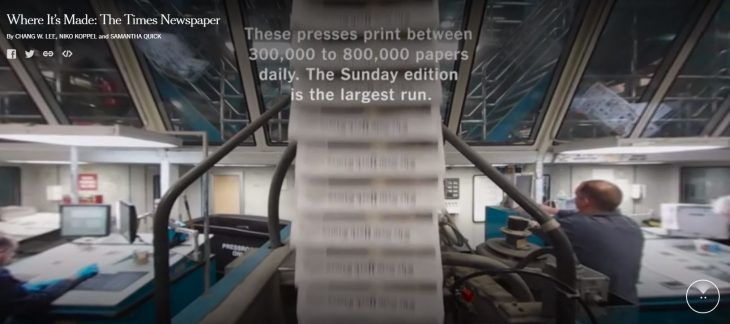 Impresión del New York Times