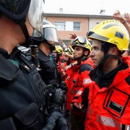 Incidentes entre Guardia Civil y bomberos