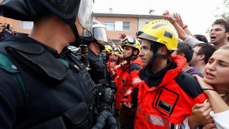 Incidentes entre Guardia Civil y bomberos