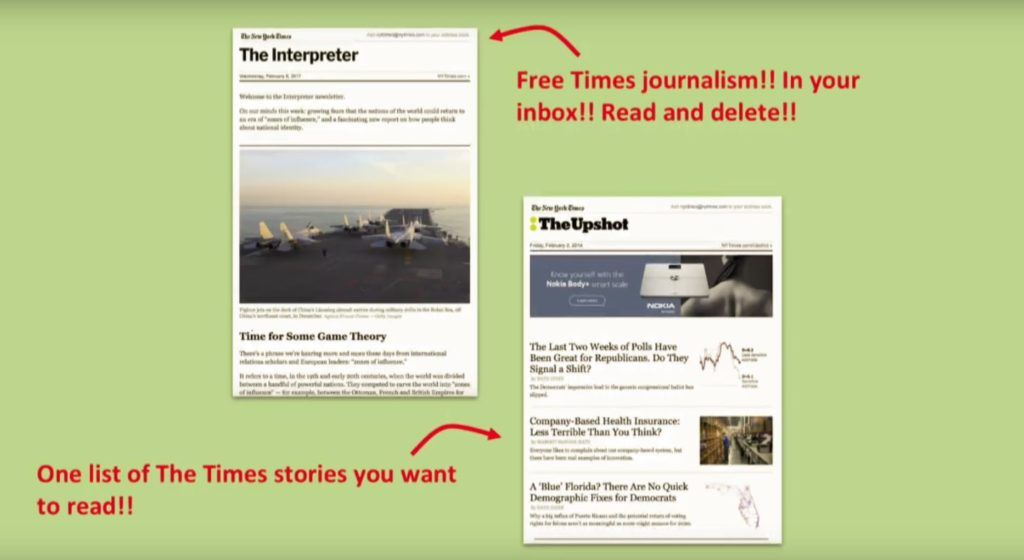 Newsletters New York Times